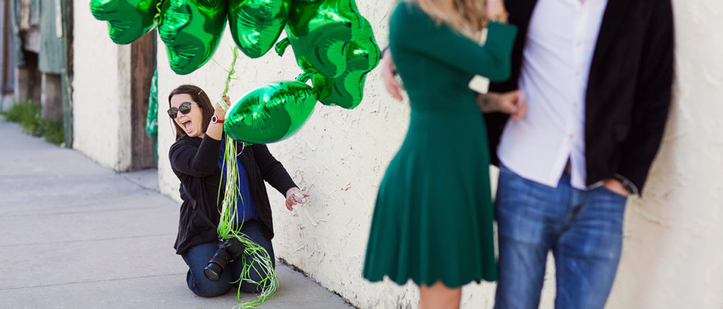 Destiny + Brett : St. Patrick's Day Pregnancy Announcement in Orlando, Florida